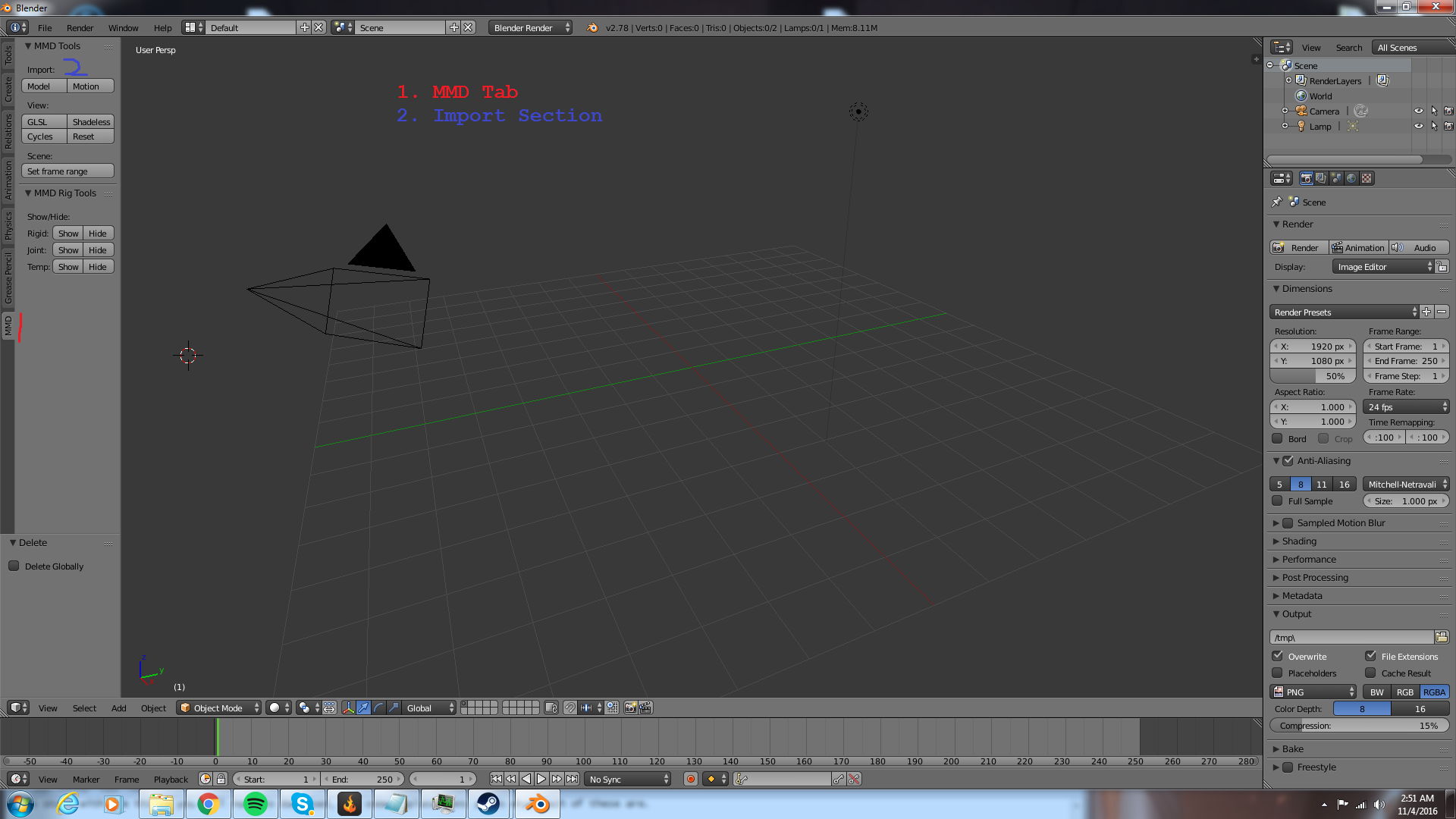 Steam Community :: Guide :: How to import an MMD model into Blender