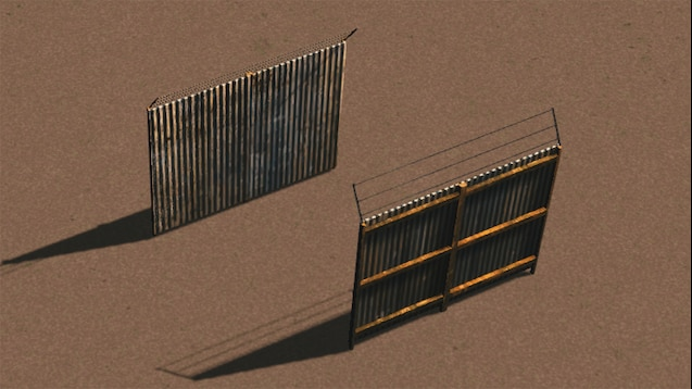 Steam Workshop :: Tall Corrugated Metal Fence - 4m