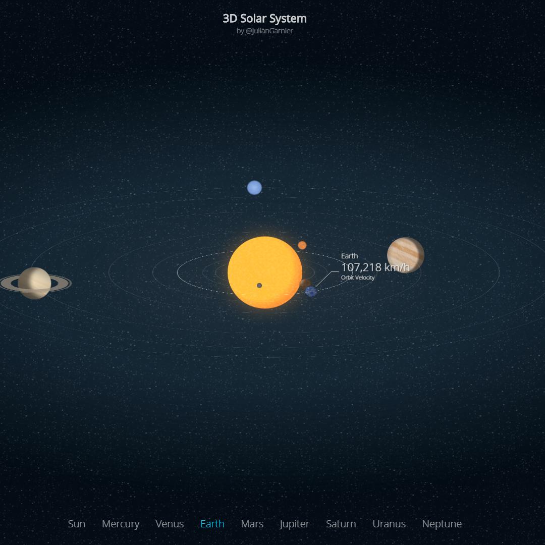 3D Solar System Wallpaper Engine