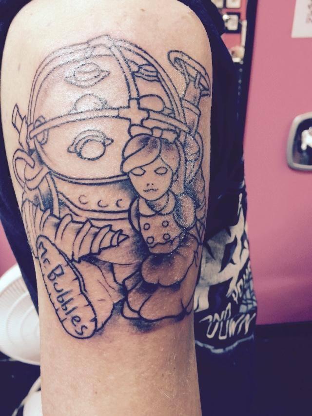 steam community bioshock big daddy little sister tattoo