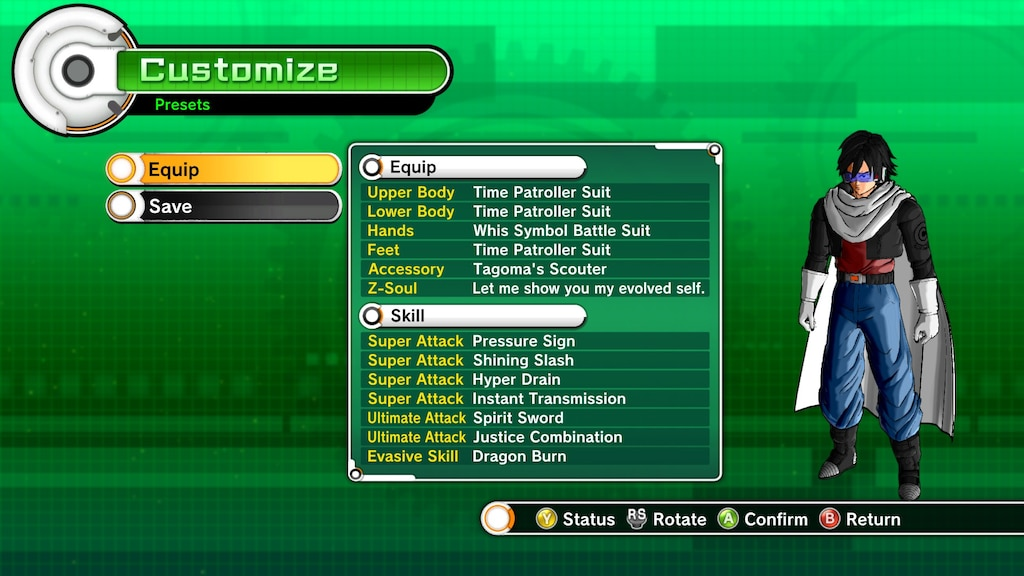 Steam Community :: Screenshot :: Xenoverse 2 transfer character