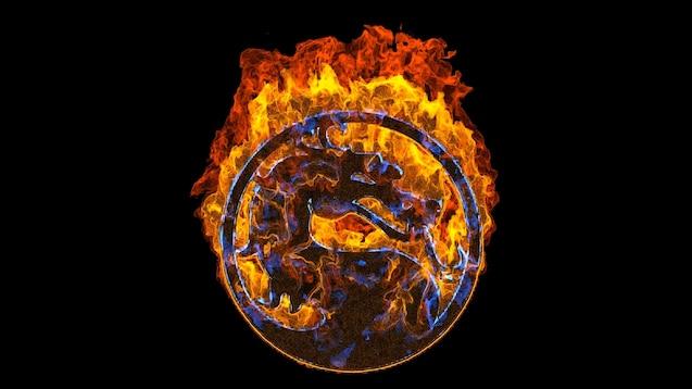 Steam Workshop Mortal Kombat Logo Fire Retro Style