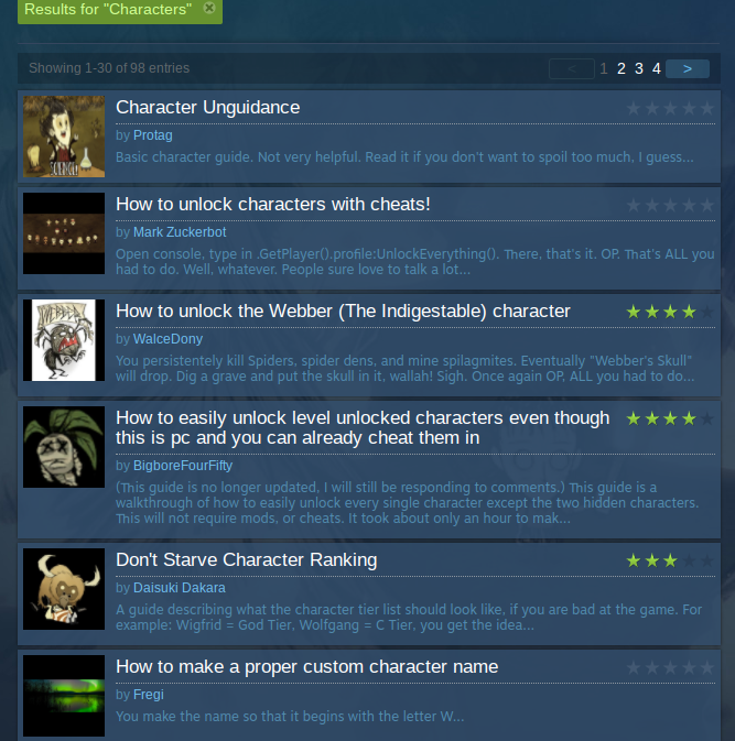 Steam Community Guide Every Character Explained