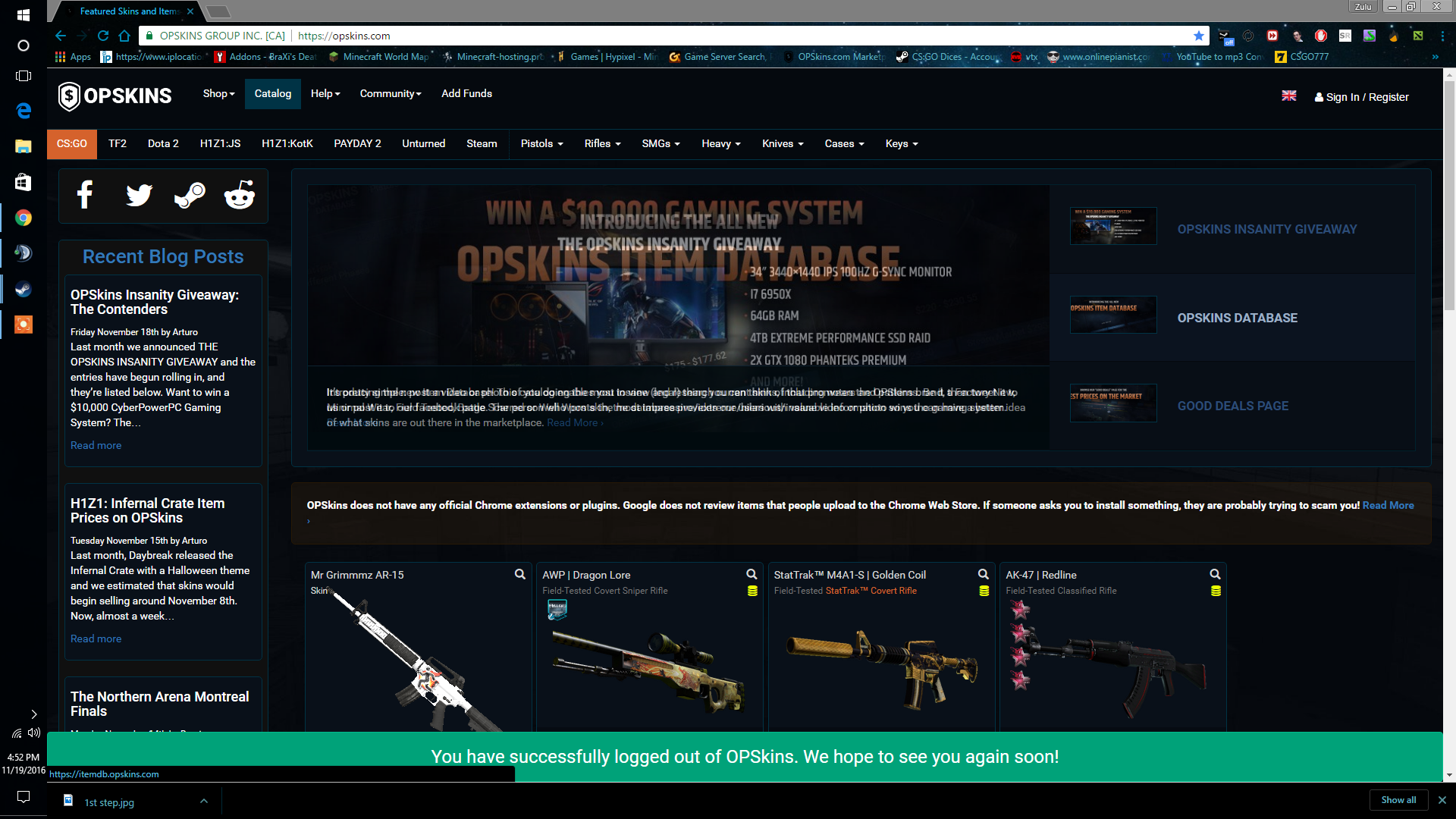 steam community guide how to get a csgo item s hash number