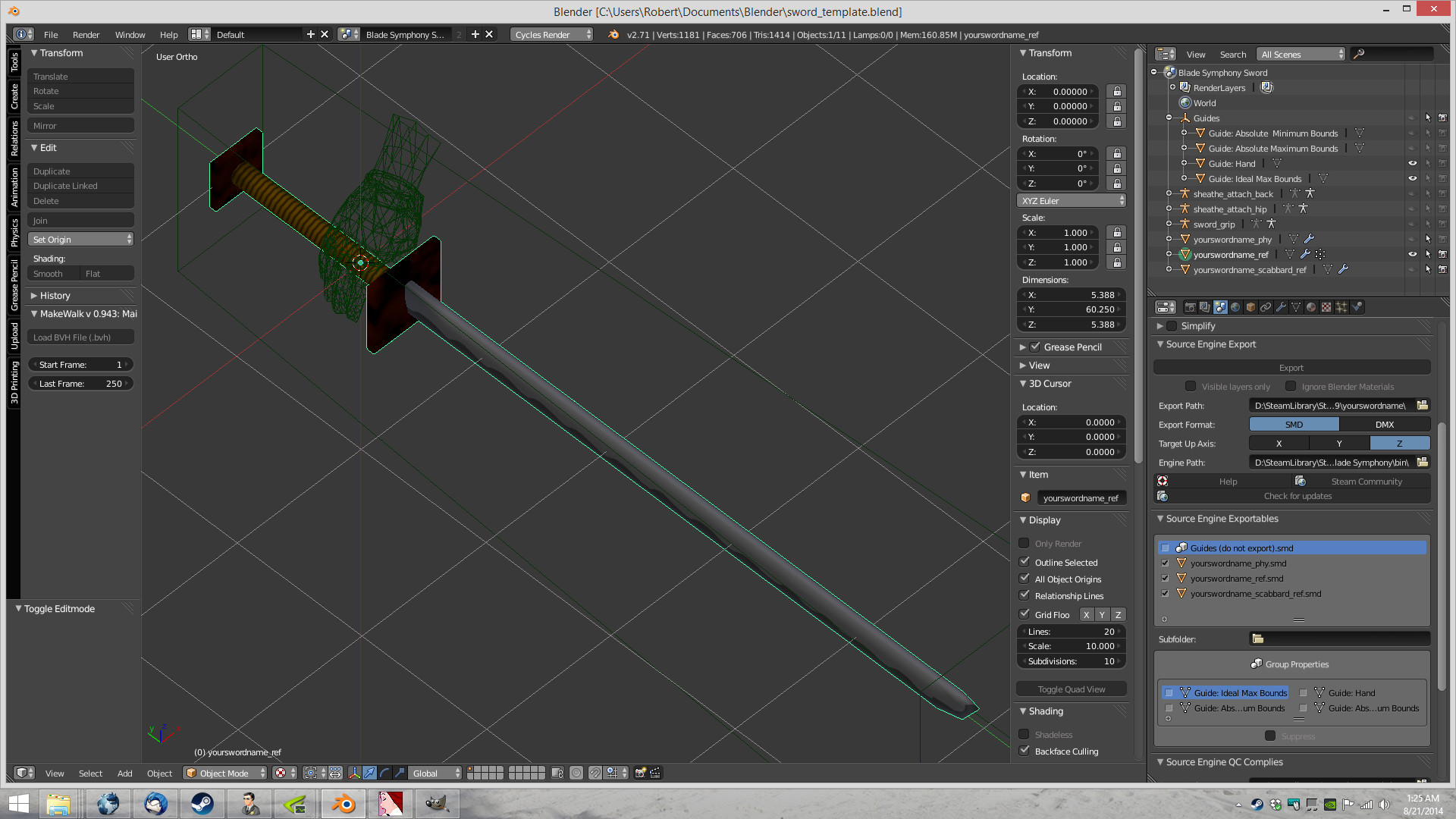Steam Community Guide Using Blender To Create Blade Symphony