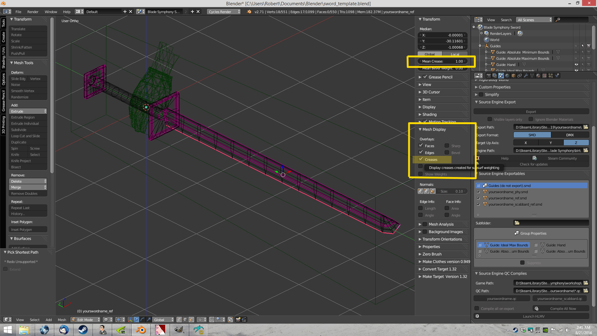 Steam Community :: Guide :: Using Blender to Create Blade Symphony ...