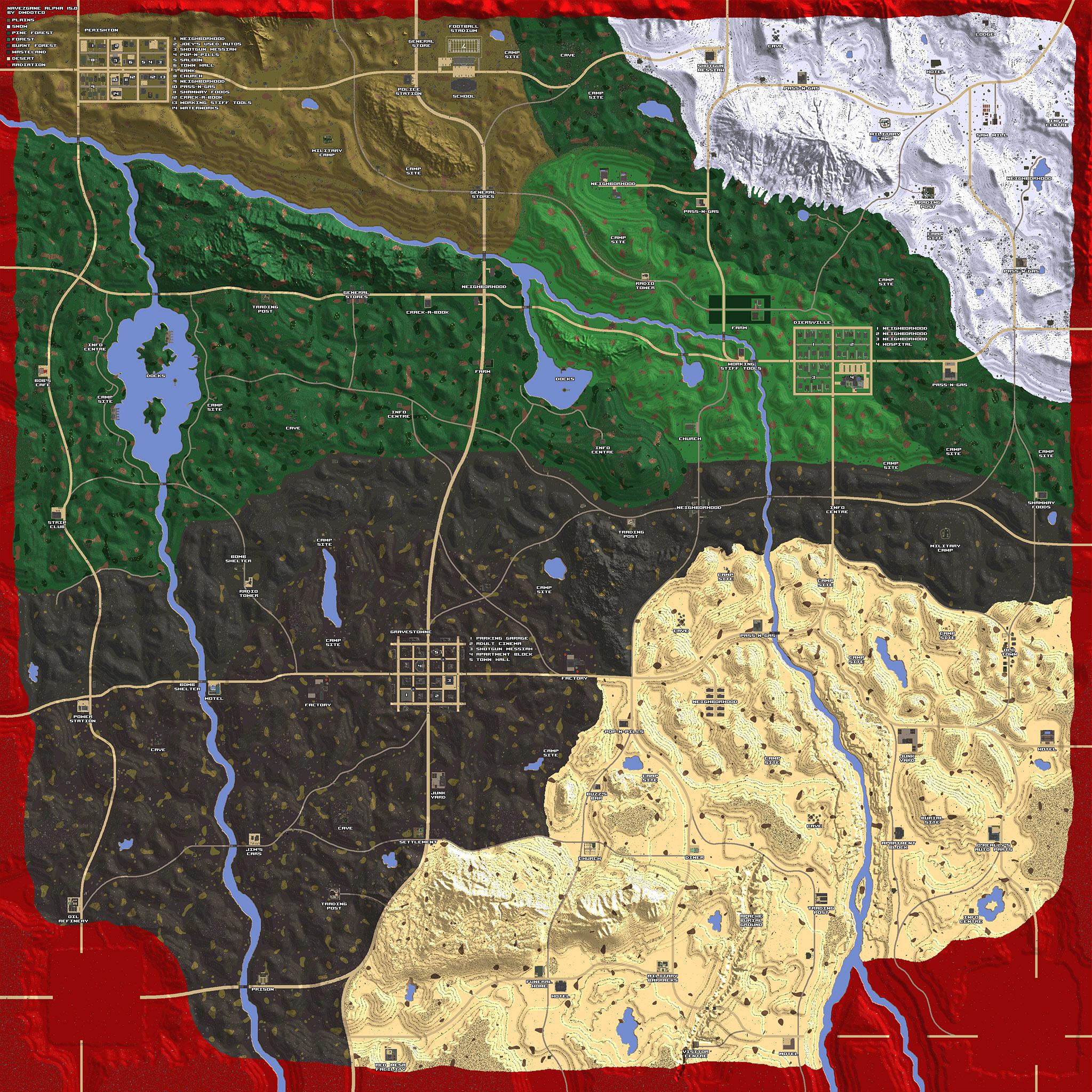 7 days to die carte Steam Community :: Guide :: Navezgane Alpha 15 POI Map