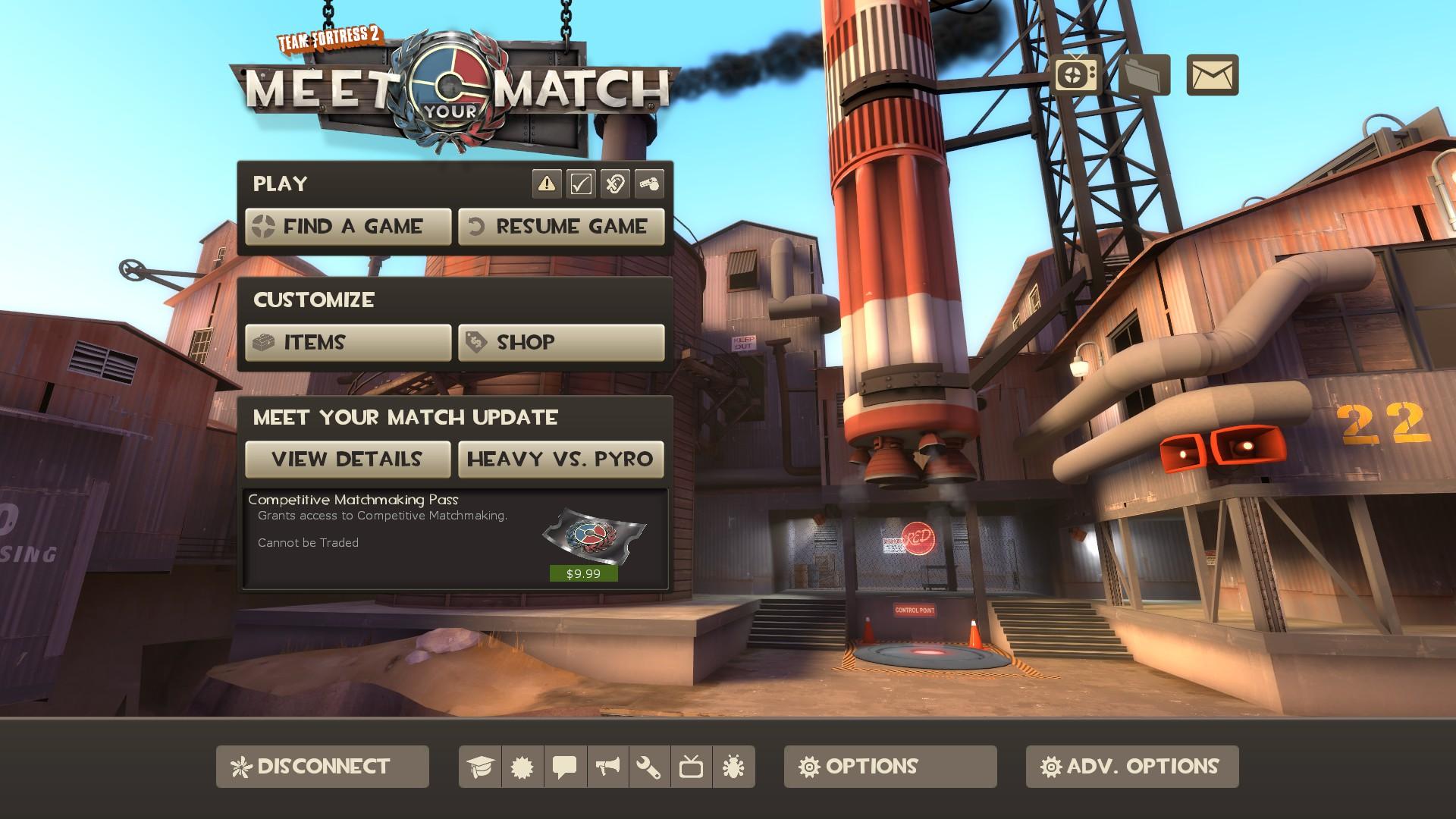 Pass di matchmaking competitivo di TF2