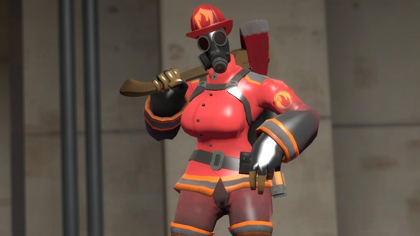 Sexy fem pyro