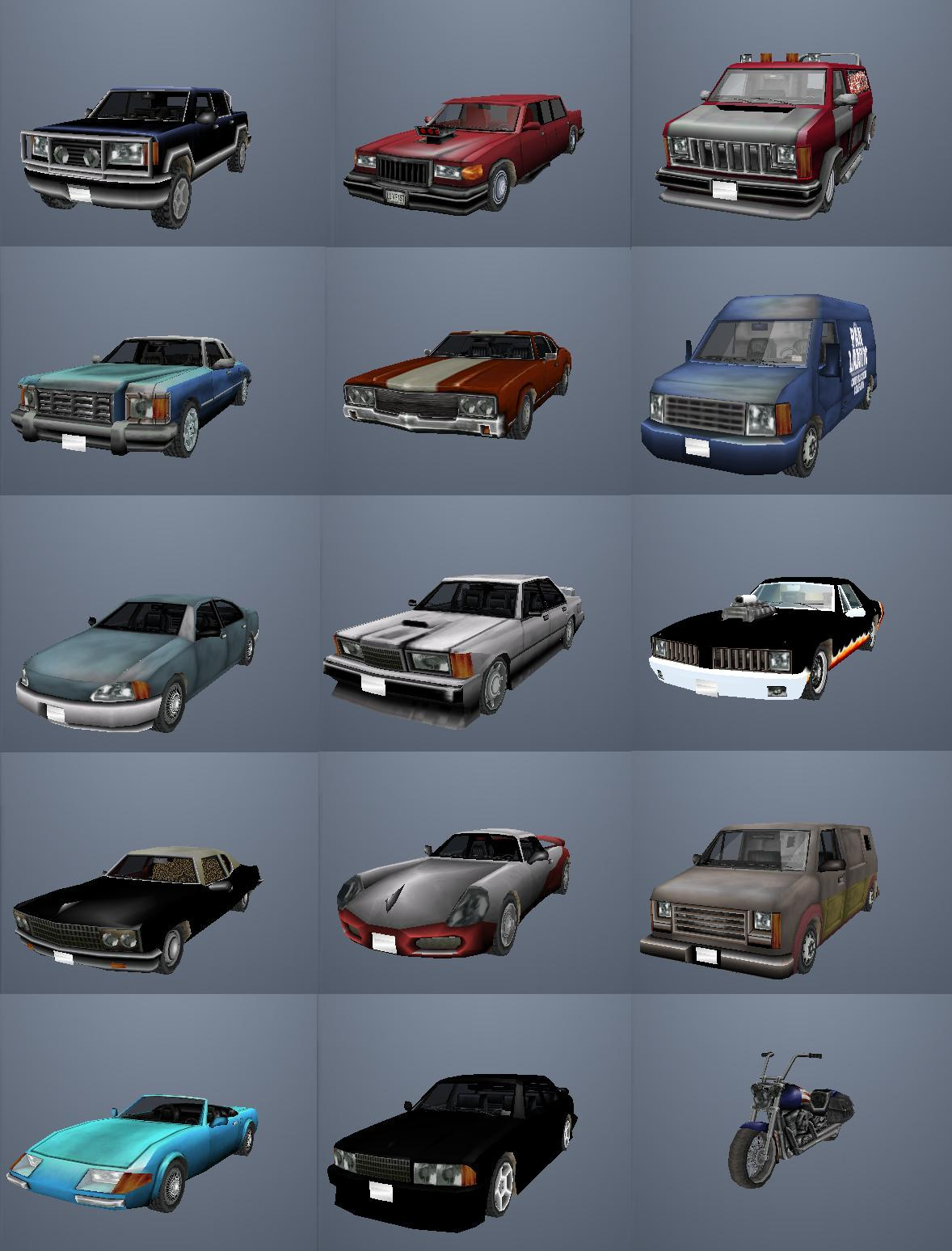 gta san andreas cool cars cheats