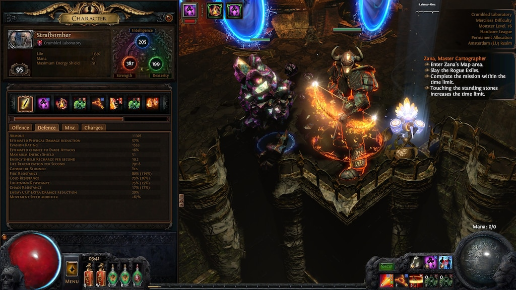 path of exile lab locations