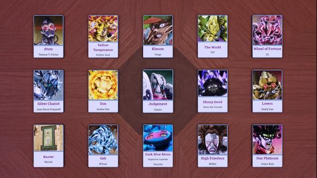 Steam Workshop :: JoJo's Bizarre Adventure Stand Cards