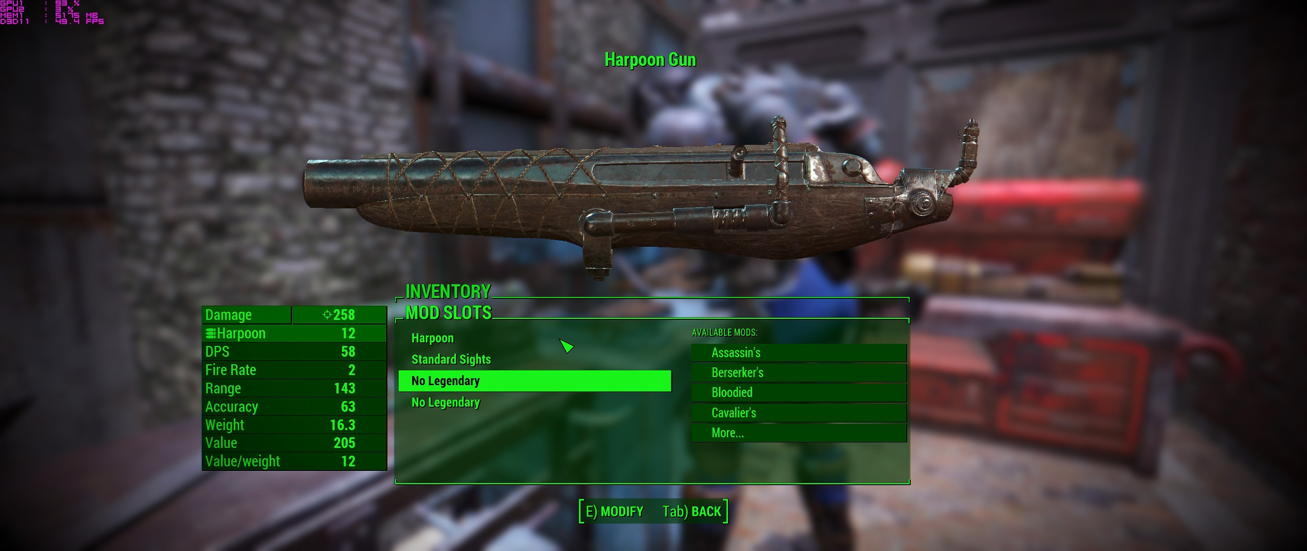 fallout 4 craftable legendary