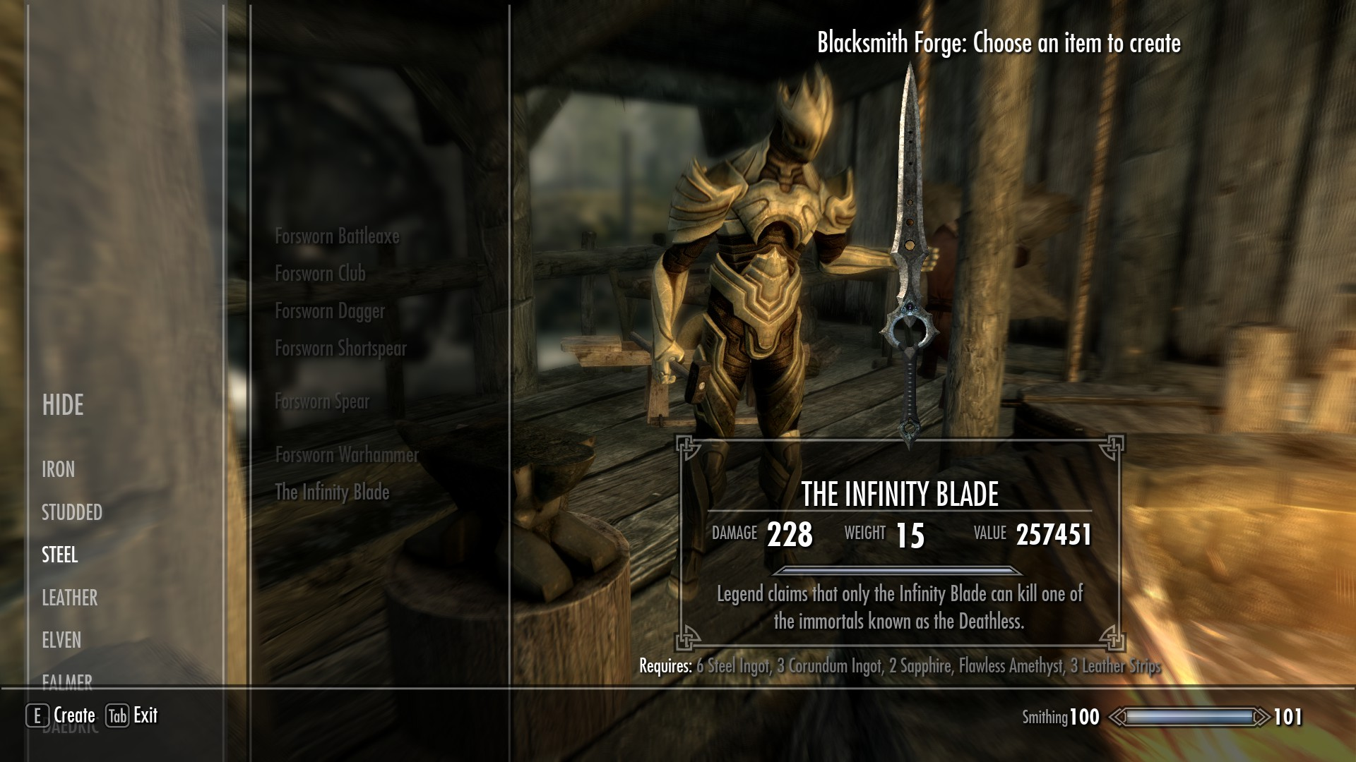 Steam Workshop :: Infinity Blade Mod for Skyrim
