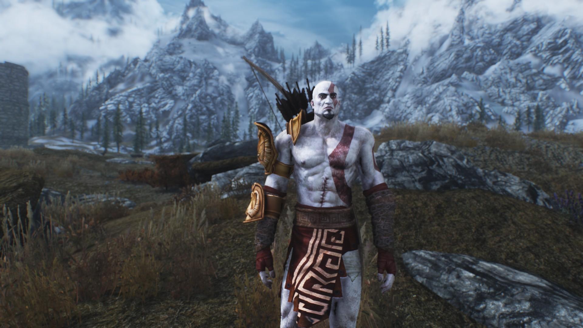 """Résultat de recherche d'images pour """"Skyrim god of war"""""""
