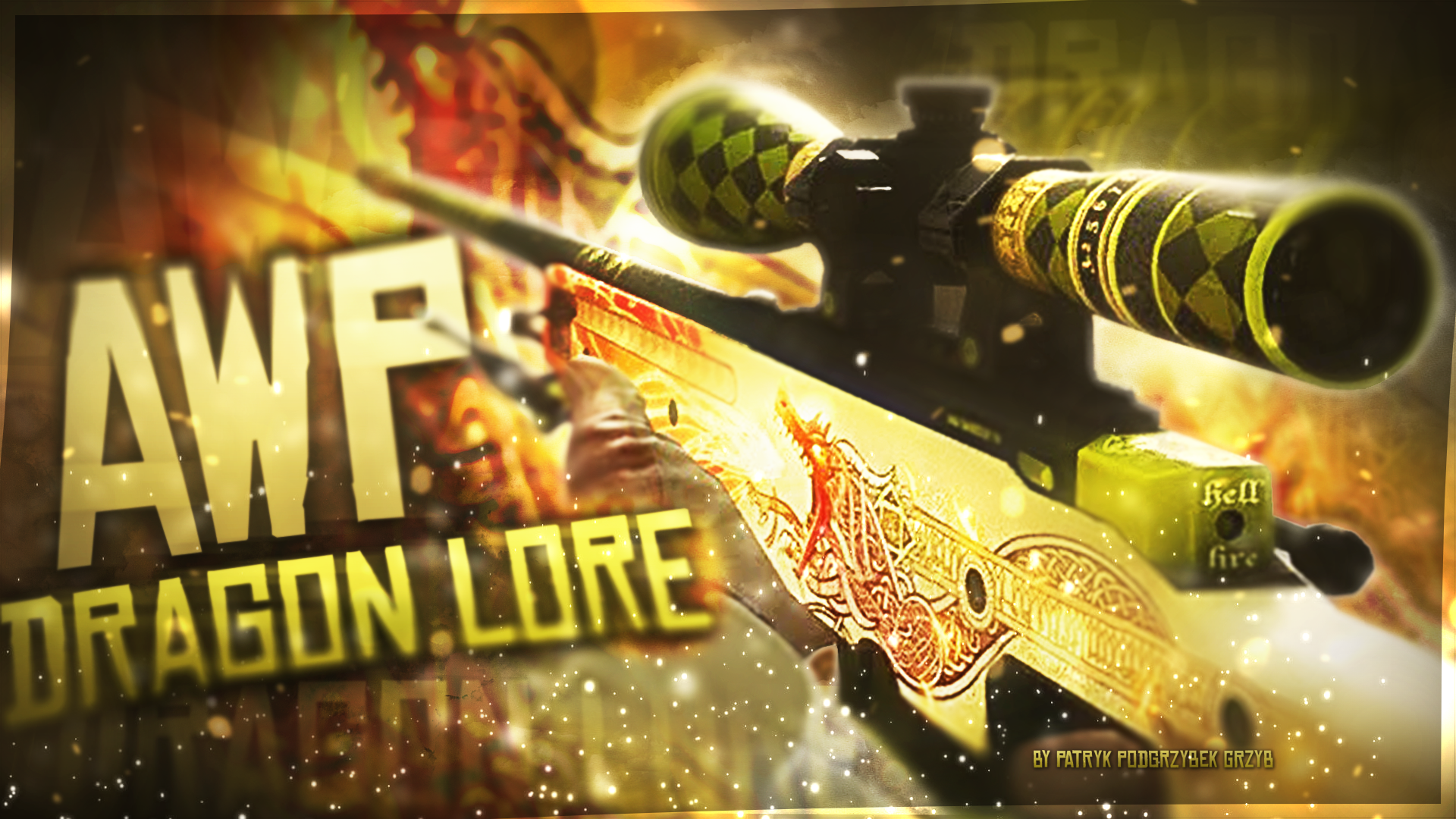 steam community awp dragon lore wallpaper by patryk