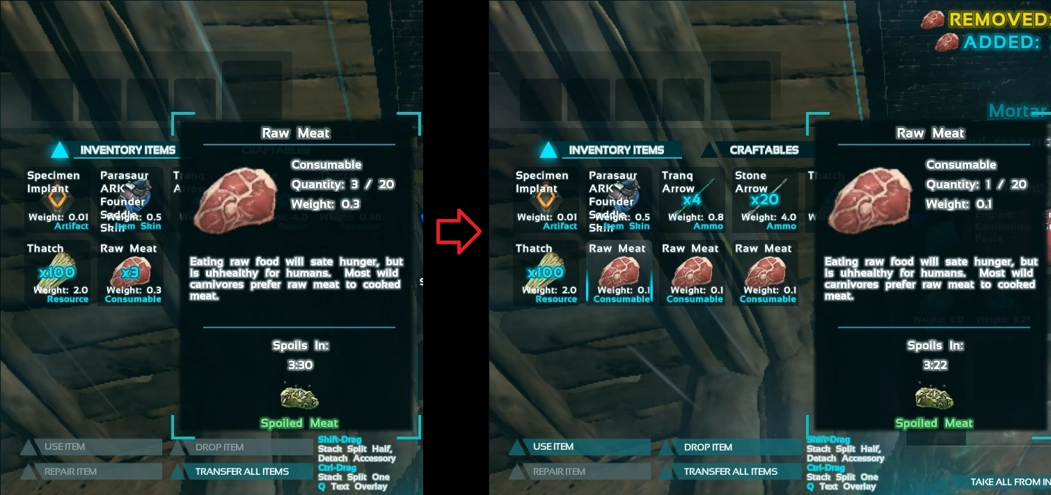 Steam community guide ark a beginners guide used to take 1 unit from a material stack forumfinder Gallery
