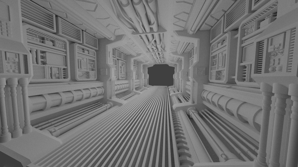 Steam Community :: :: Spaceship corridor WIP