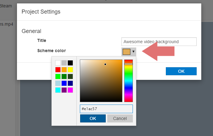 Change the default scheme color by clicking on the color chooser button. This color will be applied to Windows along with your wallpaper if the user chose ...