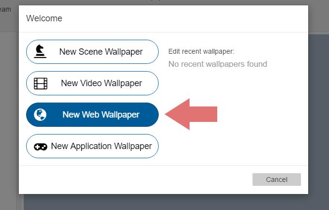 Creating an HTML web wallpaper