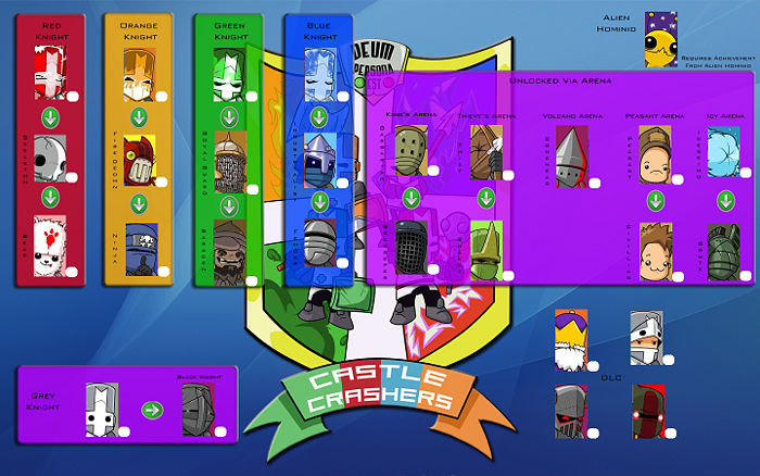 Castle Crashers how to unlock all characters - YouTube
