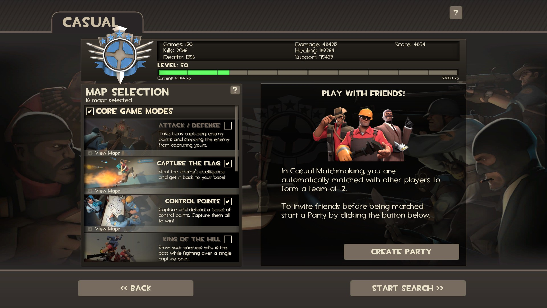 Team fortress 2 matchmaking not working