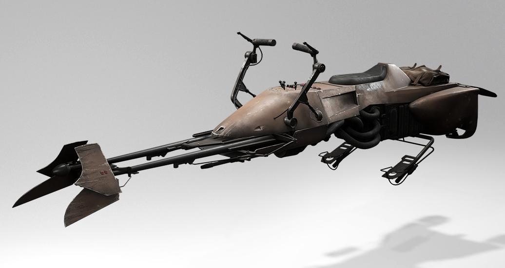 Image result for hover bike star wars