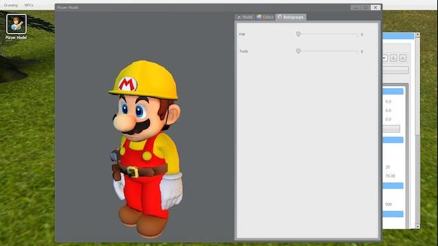 Steam Workshop :: Mario Maker: Builder Mario Playermodel