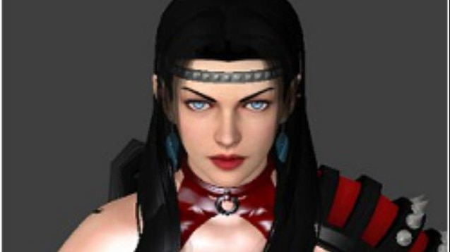 Steam Workshop Rachel From Ninja Gaiden Black Hair Blue Eyes Rochelle