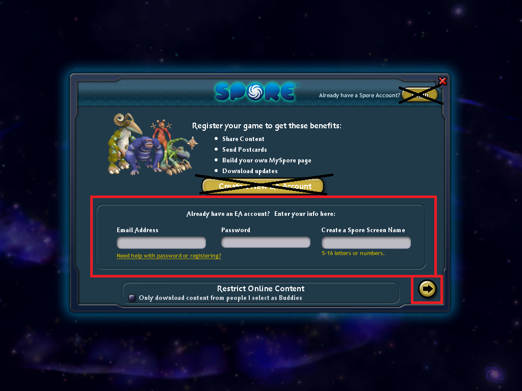 steam community guide how to connect to spore servers link