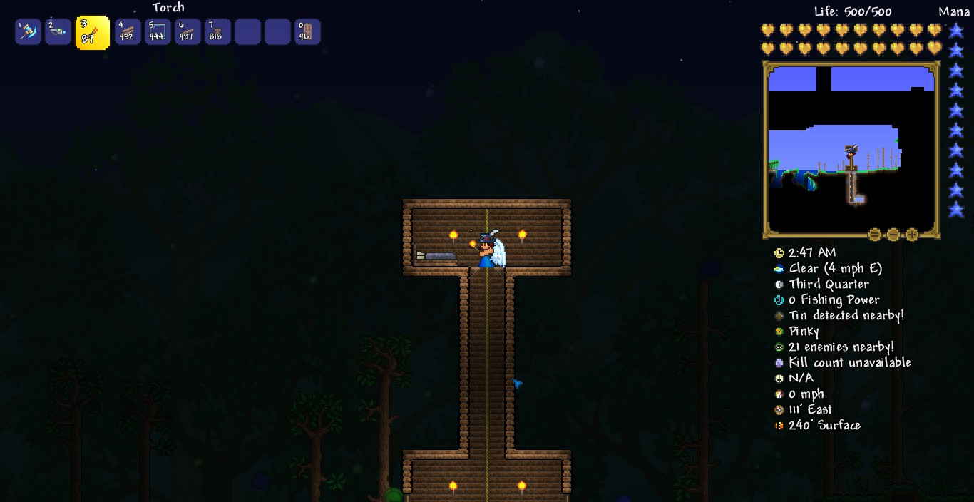 Steam Community Guide How To Build An Exciting Useful And Terraria Wiring Ideas After You That Cover Up Your Tower Then Add About 5 Blocks On Each Side Of Platform Course More Walls A Roof Again