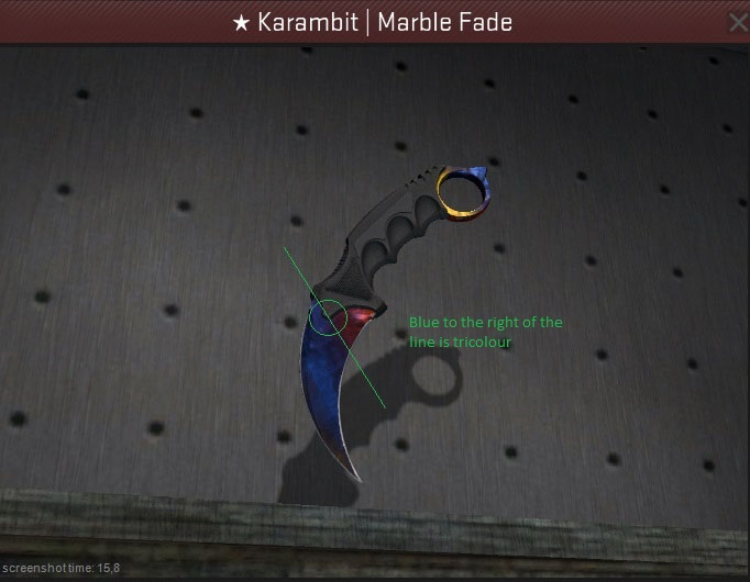 karambit marble fade fire and ice price