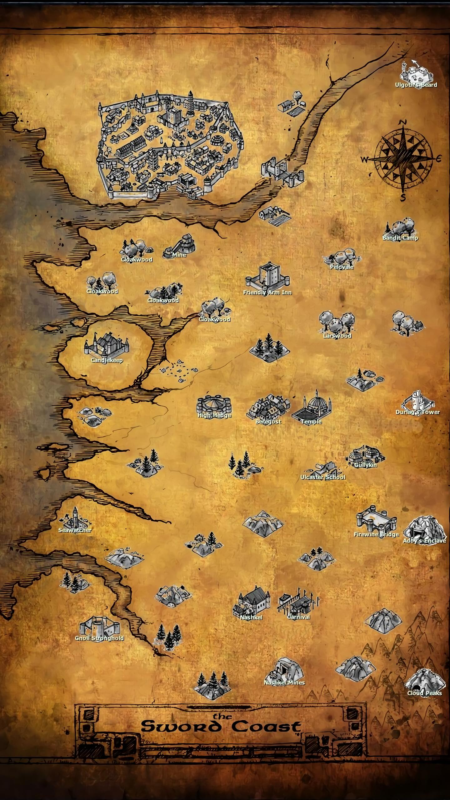 Steam Community :: Guide :: Complete Map of the Sword Coast