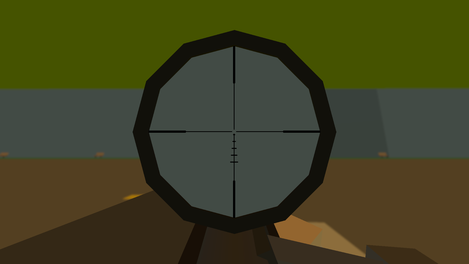 With The 16x Scope You Get 11 Mil Dots In Each Direction, Which Can Be Used  For Rangefinding, Leading, Andpensating For Distance