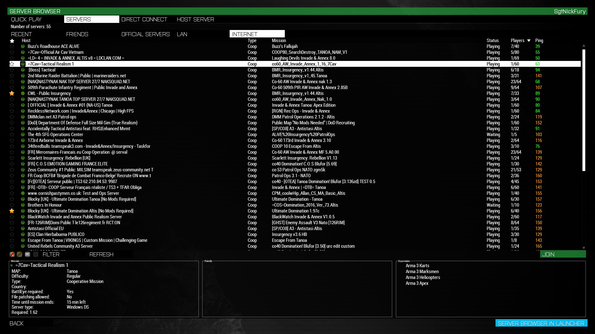 Steam Community :: Guide :: Saving Your Favorite Servers in Arma3