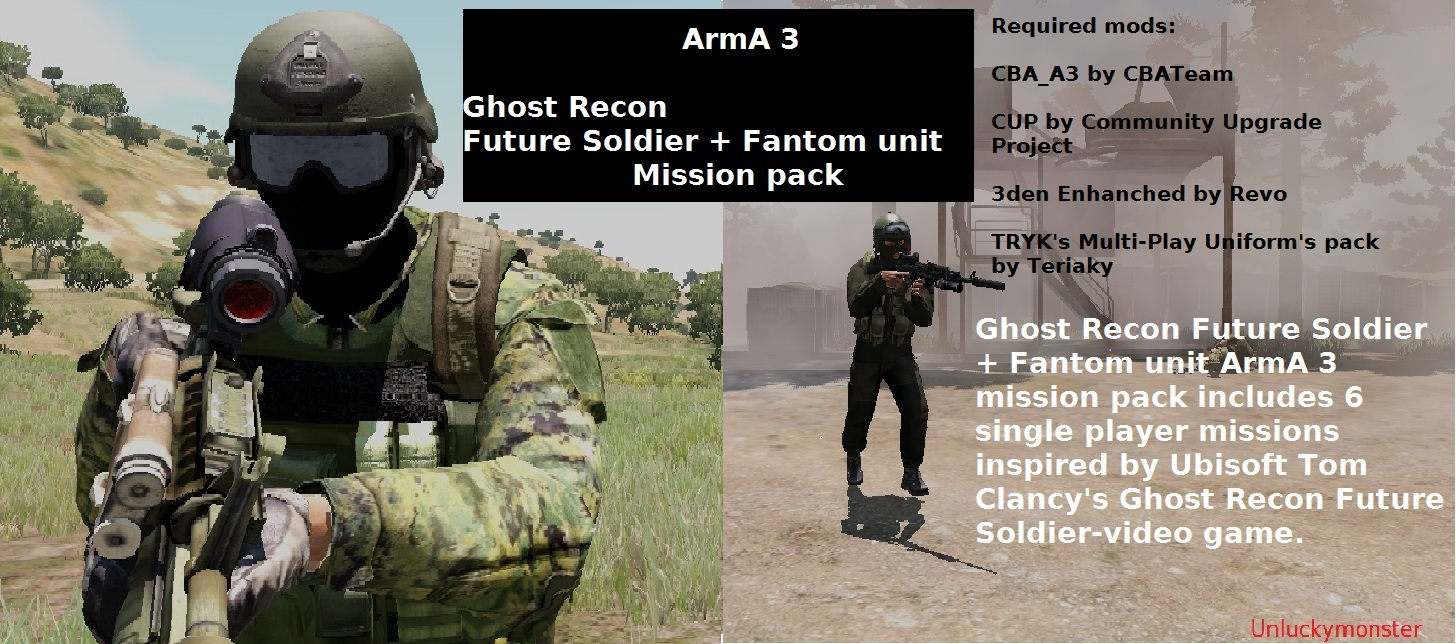 ArmA 3 Ghost Recon Future Soldier + Fantom unit mission pack