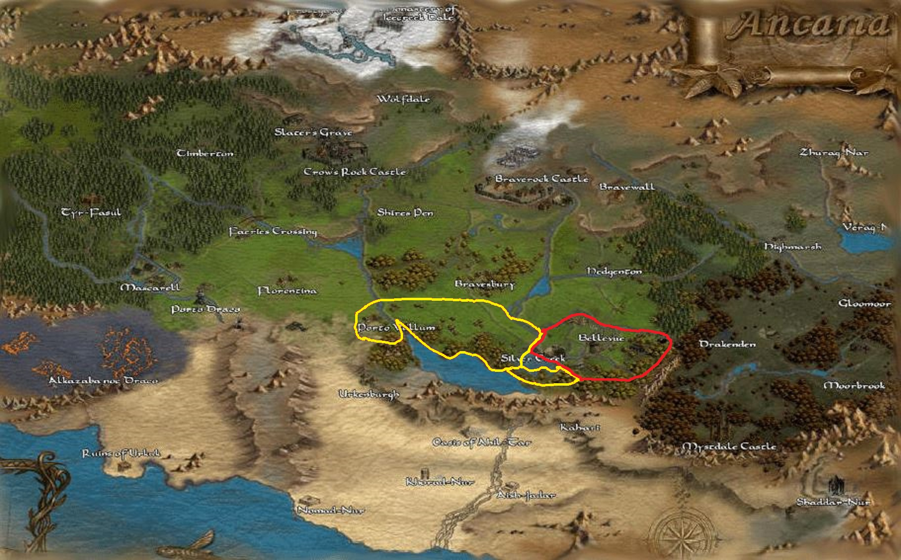 Steam community guide character selection guidebook here the area circled in red is where enemies do not respawn that area and the yellow area where enemies will respawn south of the pond are where you gumiabroncs Image collections