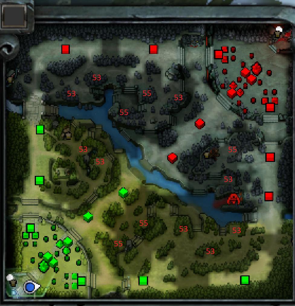 схема расстановки sentry ward
