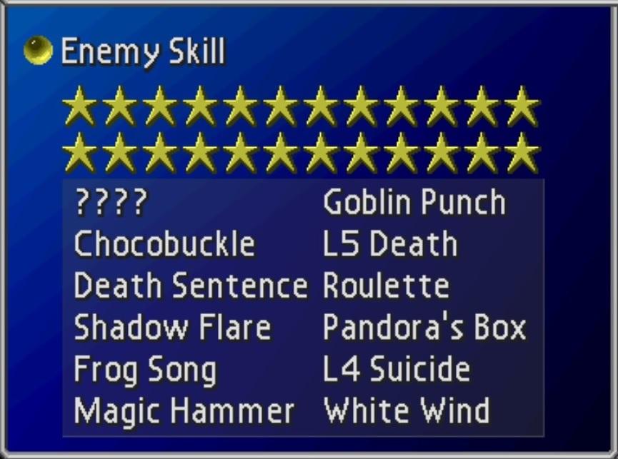 Steam Community :: Guide :: Final Fantasy 7: Enemy Skill Guide
