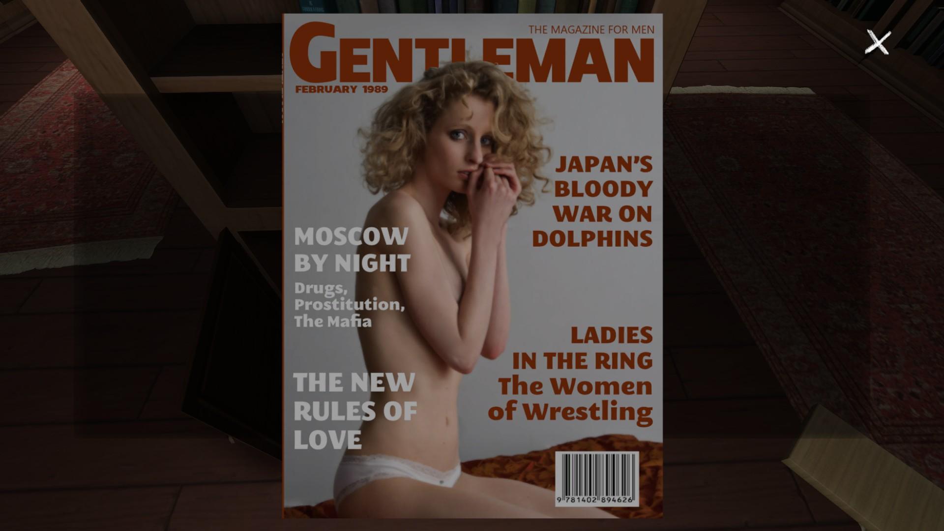 Mens magazine black adult