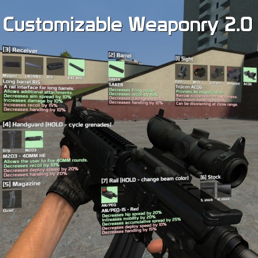 Customizable Weaponry 2.0