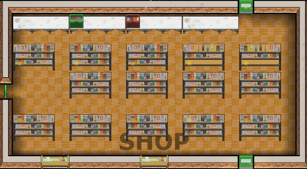 Requirements Indoors Table 4x1 Shop Shelf 3x1 Front 2x1