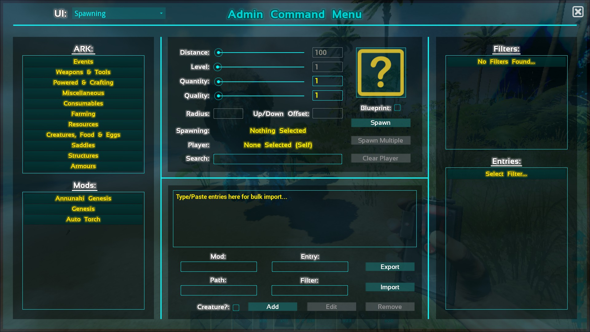 Steam community guide acm admin command menu mod bulk import guide httpsteamcommunitysharedfilesfiledetailsid692795631 malvernweather Images