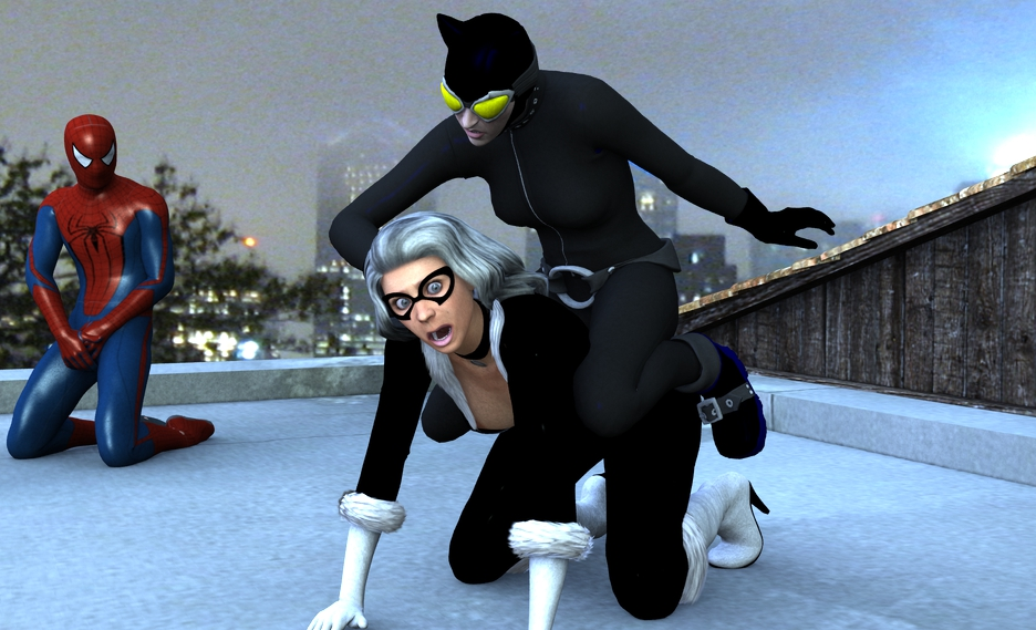 Black cat wedgie