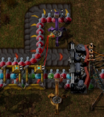 Nice This Layout Is Not Made By Me. I Like It Because It Embraces The Chaos You  Rarely Find In Factorio. Source This Setup Puts All 4 Science Packs On One  Belt, ...