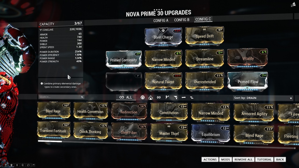 Steam Community Screenshot Nova Prime 4 Forma Special Build This Is Strictly For Long Solo Survival Runs Naramon Shadow Step Focused Build With Steel Charge Aura Fast nova build neutral nova build. solo survival runs naramon shadow step