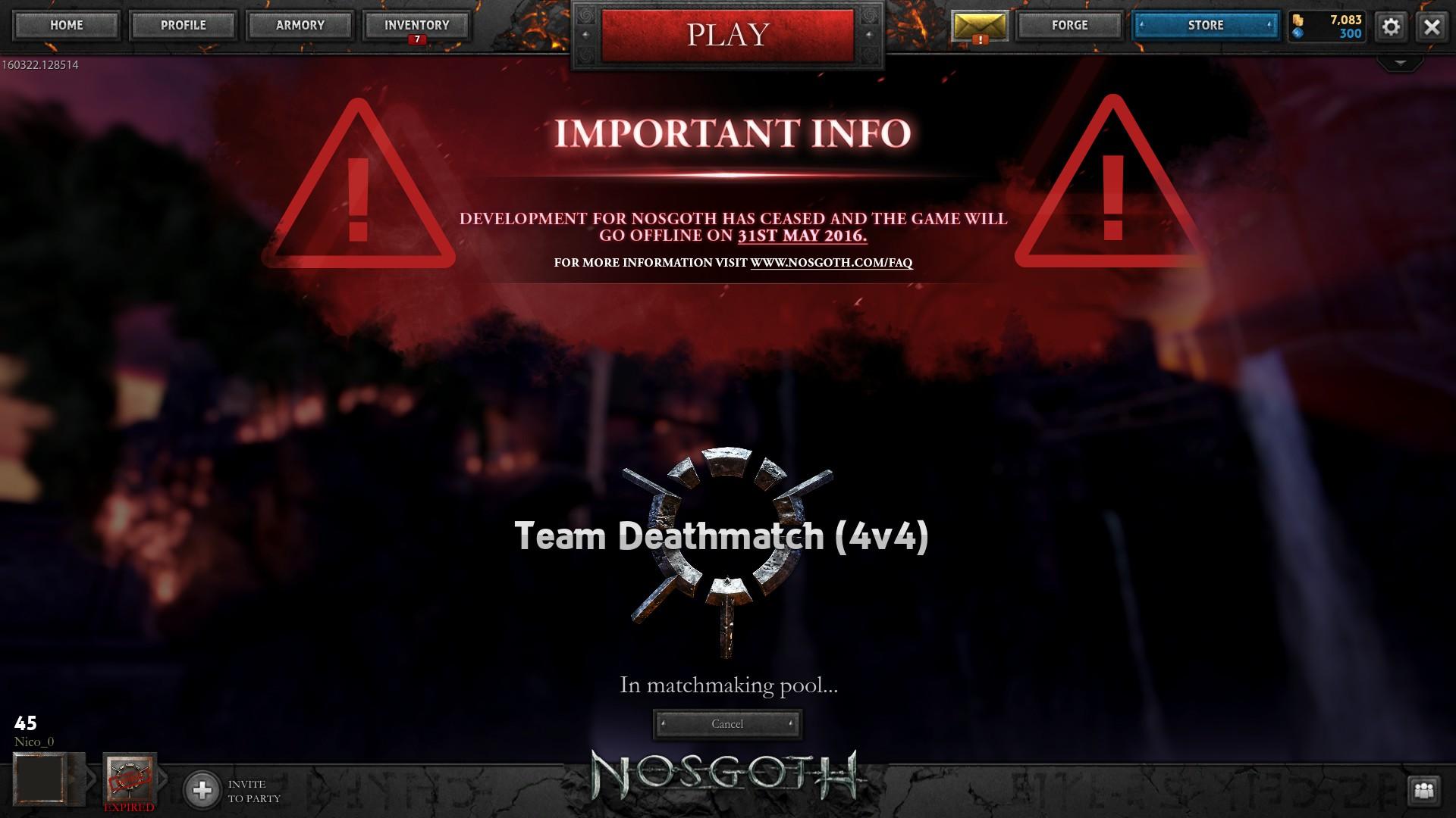 Nosgoth matchmaking pool