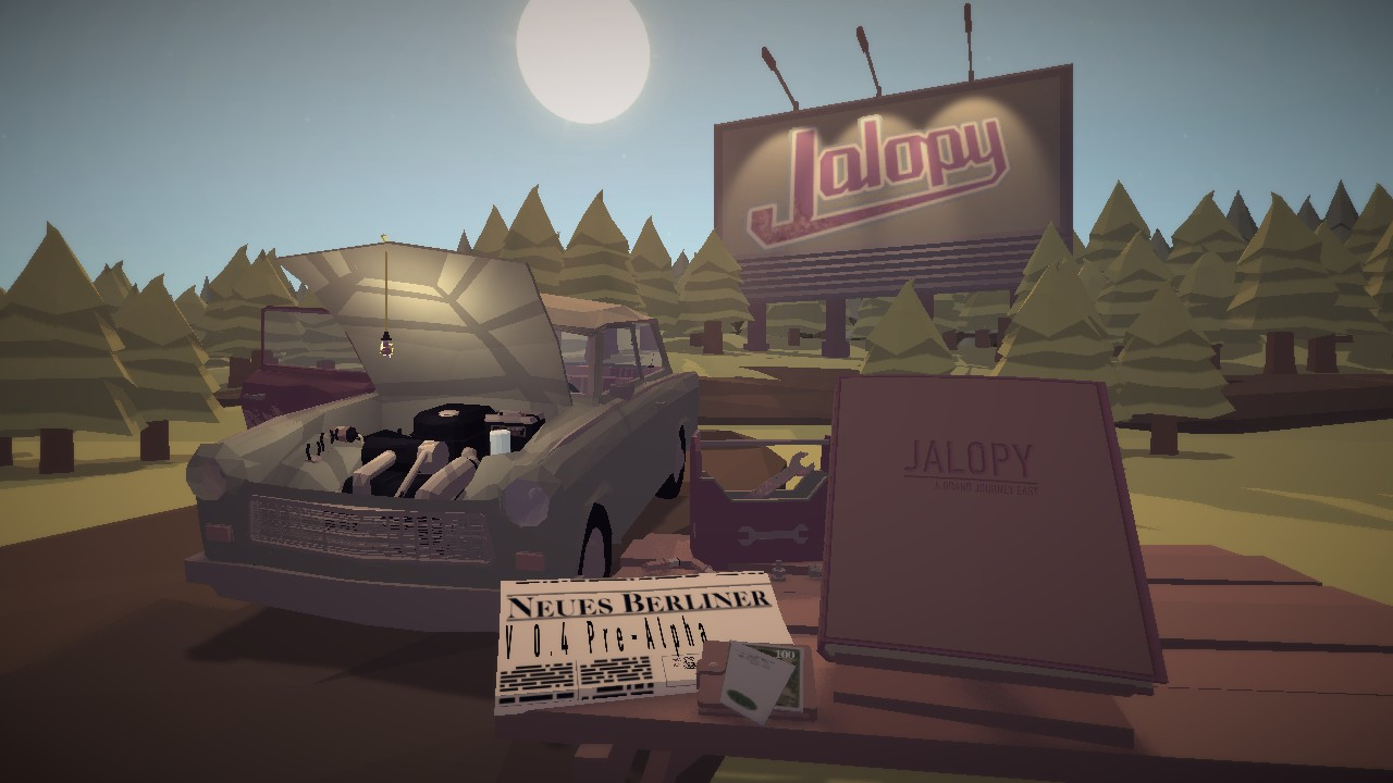 Steam Community Guide Jalopy For Dummies Car Engine Diagram I Say Similar Because Discovered That This Screen Actually Changes To Show The Current State Of Your Save File Laika In Scene Will Match