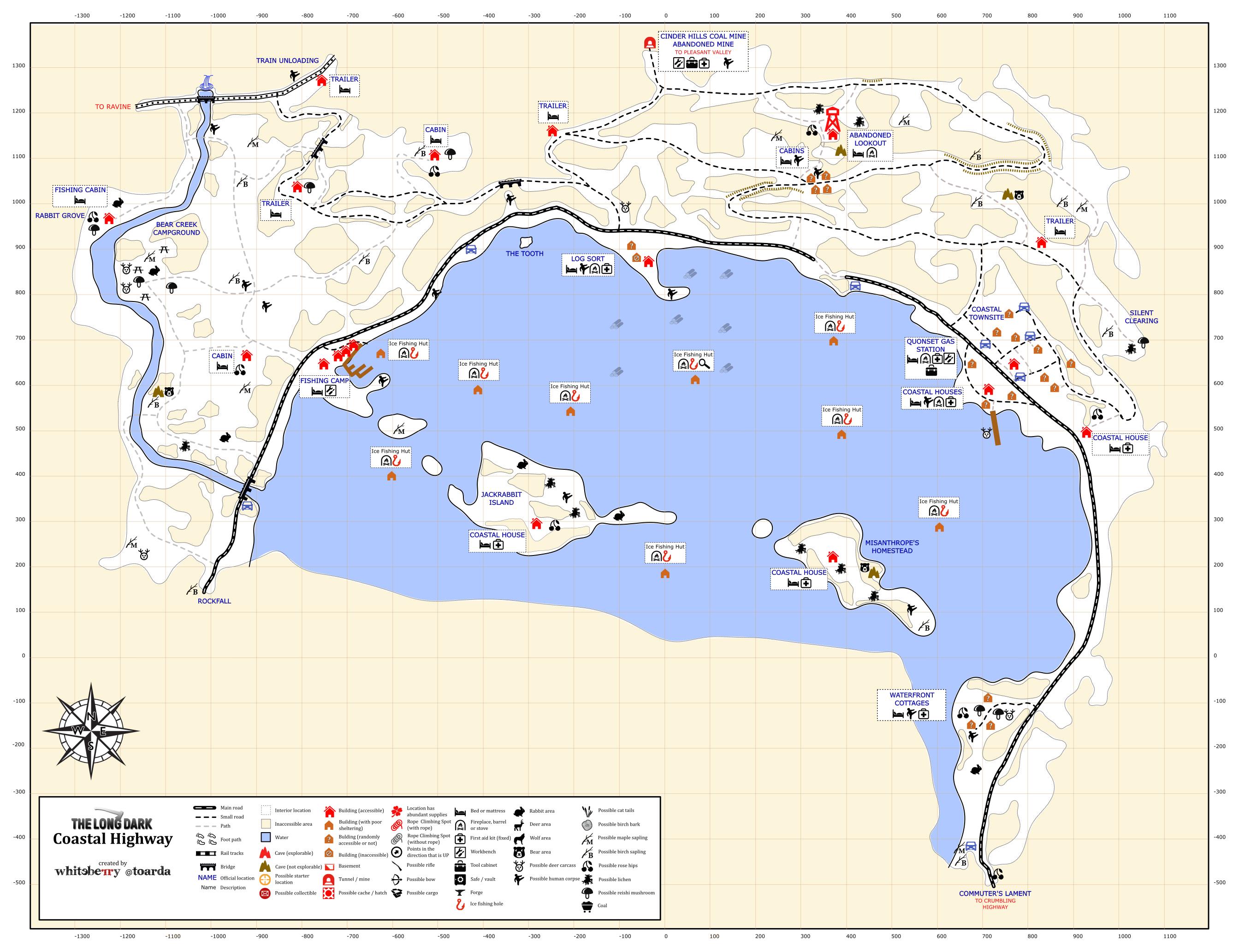 Steamin yhteis opas detailed region maps the long dark biocorpaavc