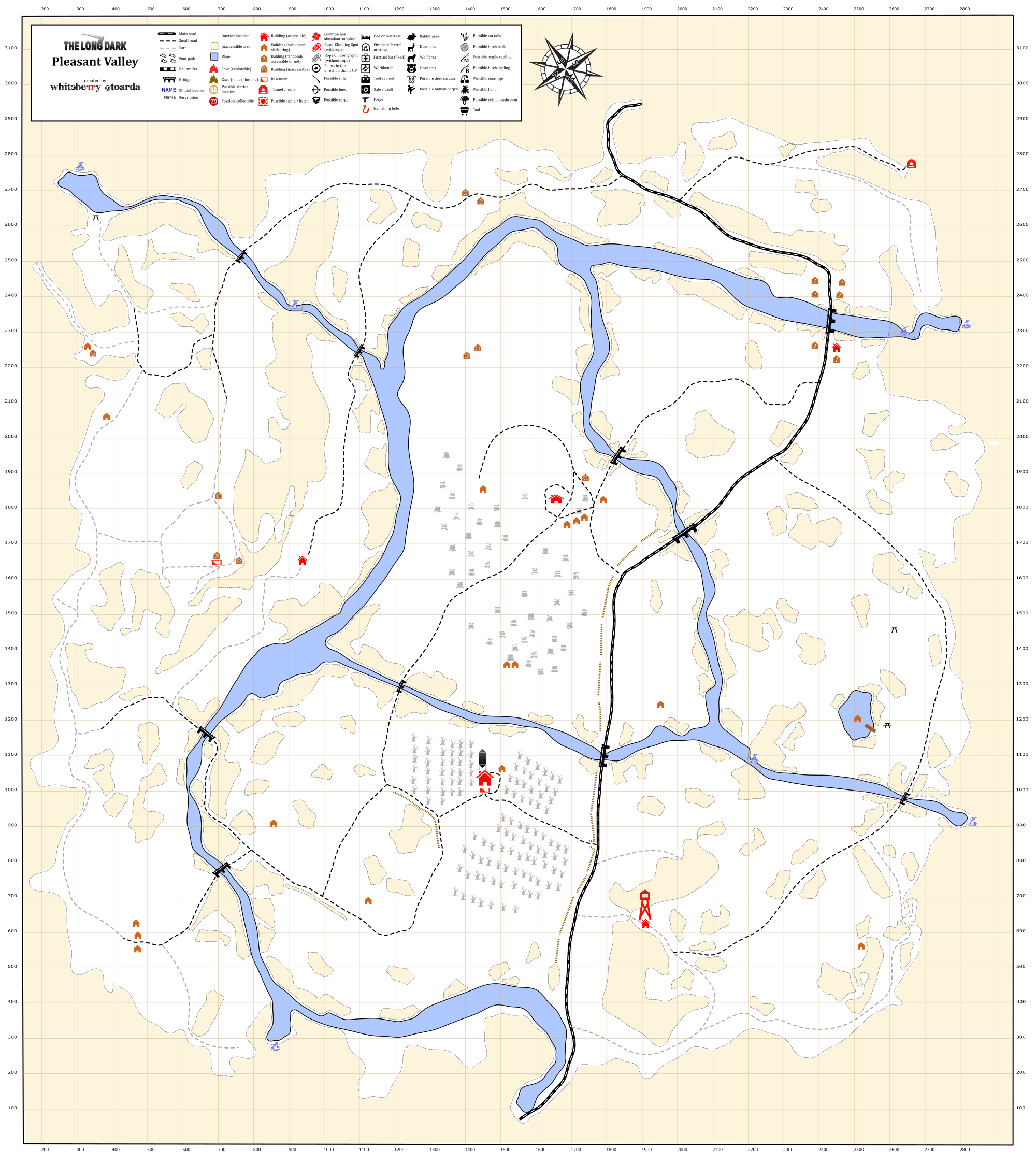 Komunita sluby Steam  Nvod  Detailed Region Maps  The Long Dark